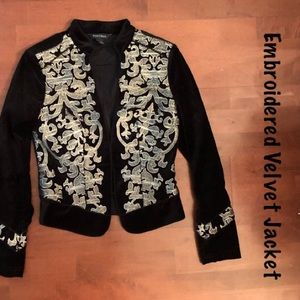 WHBM velvet embroidered jacket size 4